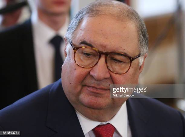 Russian businessman and billionaire Alisher Usmanov attends RussianUzbek talks at the Grand Kremlin Palace on April 5 2017 in Moscow Russia President...