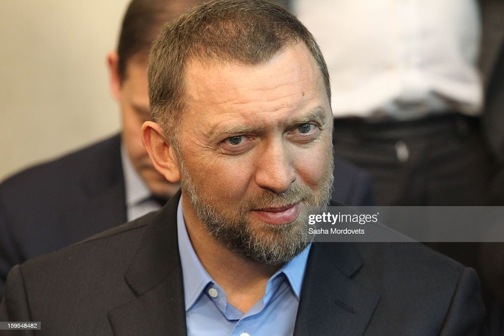 Russian businessman and billionaire <a gi-track='captionPersonalityLinkClicked' href=/galleries/search?phrase=Oleg+Deripaska&family=editorial&specificpeople=5574016 ng-click='$event.stopPropagation()'>Oleg Deripaska</a> attends the openings of the Russia Geographical Society new headquarters on January 15, 2013 in Moscow, Russia. President Vladimir Putin also took part in the ceremony on Tuesday.