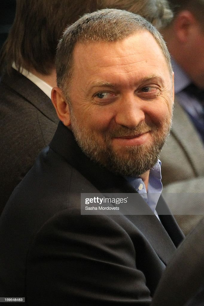 Russian businessman and billionaire Oleg Deripaska attends the openings of the Russia Geographical Society new headquarters on January 15, 2013 in Moscow, Russia. President Vladimir Putin also took part in the ceremony on Tuesday.