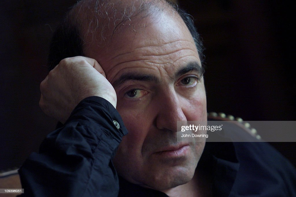 Russian businessman and oligarch Boris Berezovsky at his home in Egham, Surrey, where he lives in exile, 24th August 2002