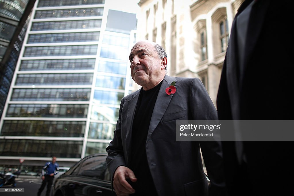 Russian businessman Boris Berezovsky arrives at The High Court on November 2, 2011 in London, England. Russian businessman Boris Berezovsky is alleging a breach of contract over businnes deals with Mr Abramovich and is claiming more than £3.2bn in damages.