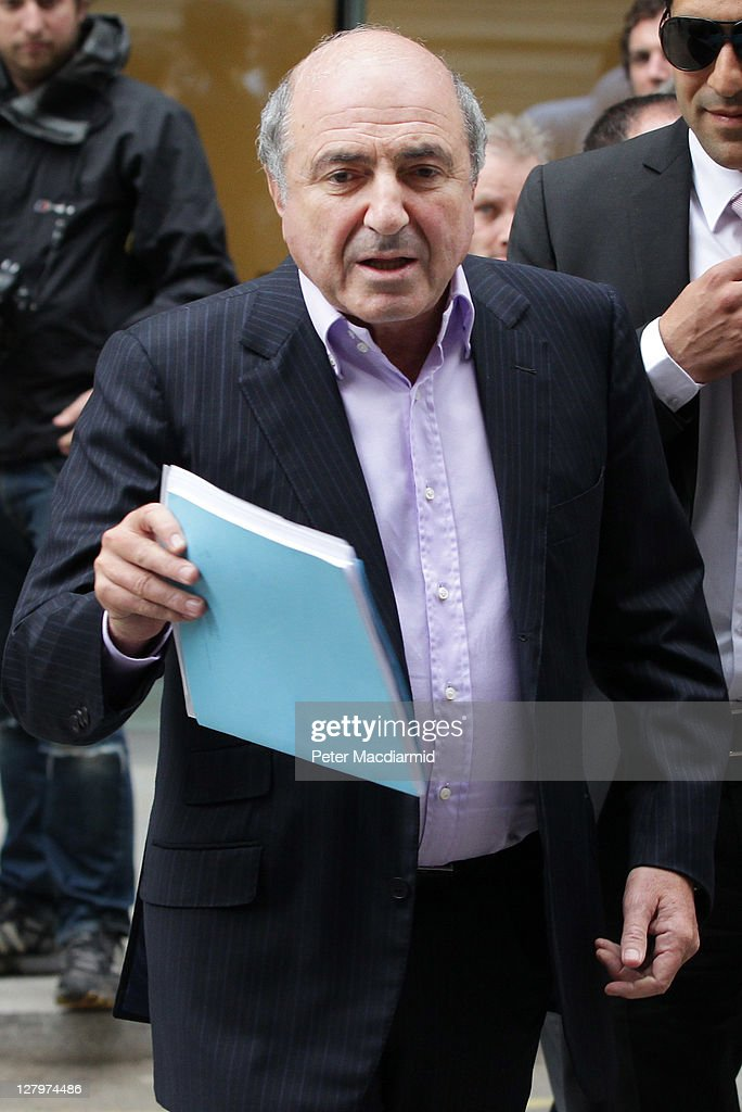 Russian businessman <a gi-track='captionPersonalityLinkClicked' href=/galleries/search?phrase=Boris+Berezovsky+-+Businessman&family=editorial&specificpeople=772839 ng-click='$event.stopPropagation()'>Boris Berezovsky</a> leaves The High Court on October 4, 2011 in London, England. Mr Berezovsky is alleging a breach of contract over business deals with fellow Russian and Chelsea Football Club owner Roman Abramovich and is claiming more than £3.2bn in damages.