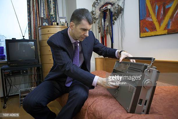 Russian businessman Mikhail Prokhorov visits the apartment that he grew up in on December 3 2009 in Moscow Russia