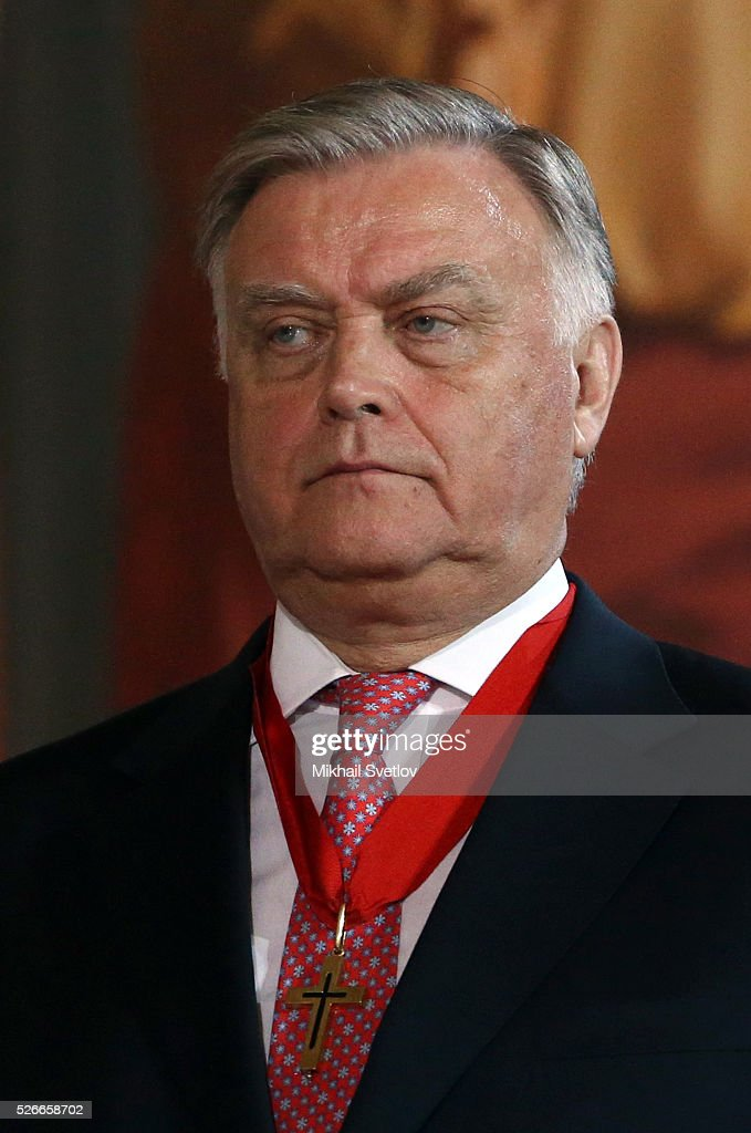 Russian businessman Vladimir Yakunin attends an Orthodox Easter mass at the Christ The Saviour Catherdal, in Moscow, Russia, May,1, 2016. Russian President Vladimir Putin, Moscow Mayor Sergei Sobyanin, Prime Minister Dmitry Medvedev and his wife Svetlana took part an Orthodox Easter service held by Patriarch Kirill at the biggest Russian Orthodox Cathedral.