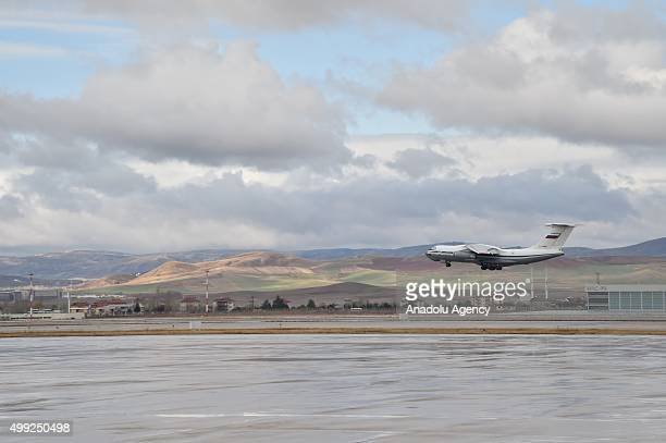 Russian cargo plane take offs after a farewell ceremony organized with the attendance of the Turkish and Russian officials at Esenboga International...
