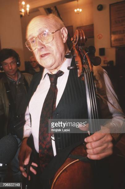 Russian cellist and conductor Mstislav Rostropovich in Moscow Russia on March 13th 1990