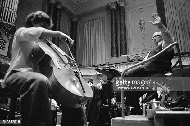 Russian Cellist and Conductor Mstislav Rostropovich