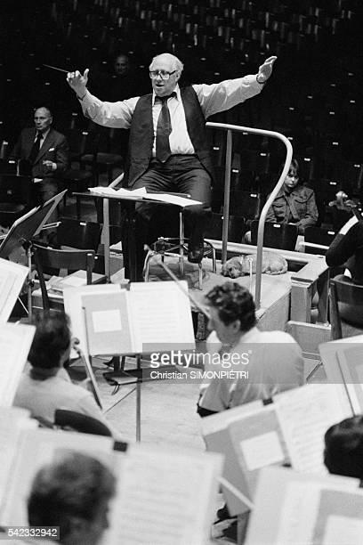 Russian Cellist and Conductor Mstislav Rostropovich