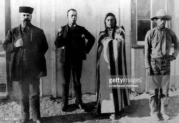 Russian Chinese Indian and Black residents California mid 1870s The African American was identified as 'Smoky' and the Native American as 'Curley'