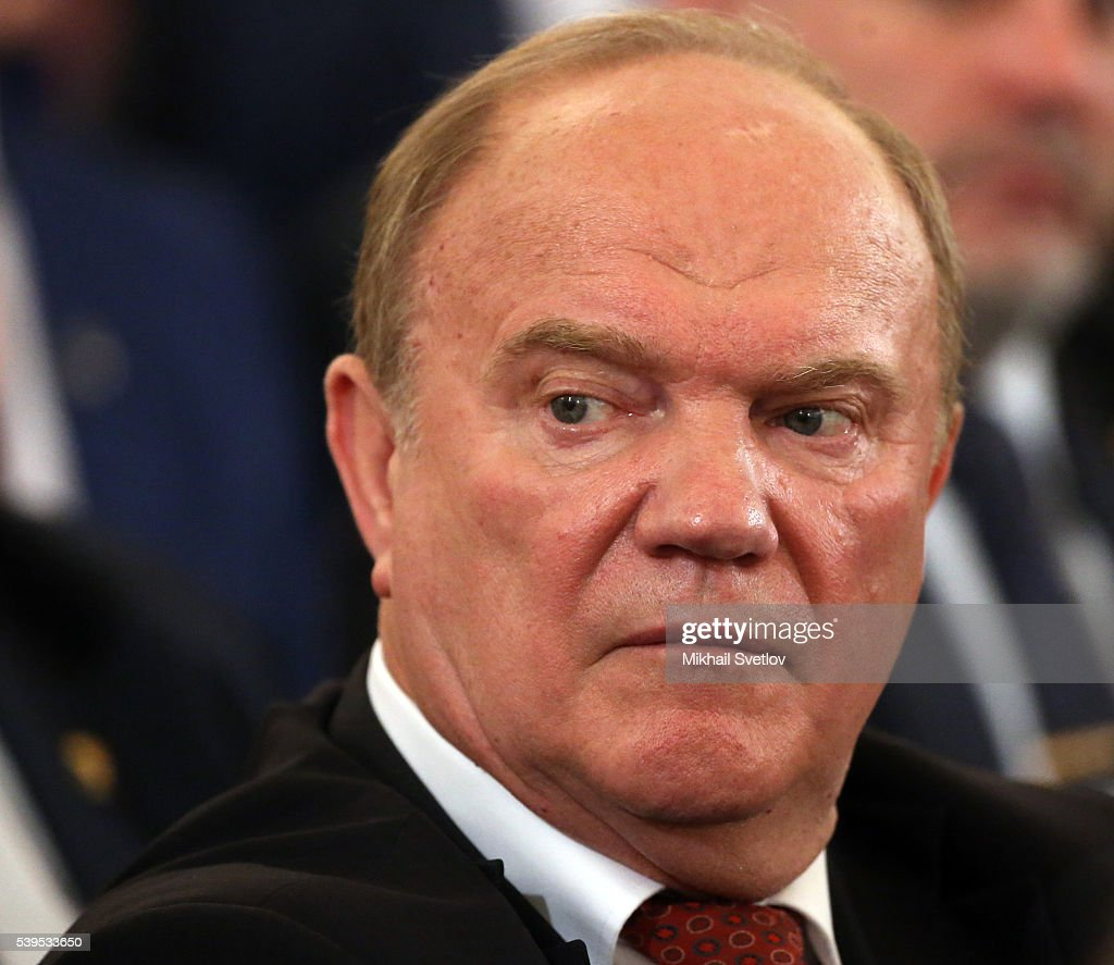 MOSCOW, RUSSIA - JUNE, 12 (RUSSIA OUT) Russian Communist Party Leader <a gi-track='captionPersonalityLinkClicked' href=/galleries/search?phrase=Gennady+Zyuganov&family=editorial&specificpeople=213936 ng-click='$event.stopPropagation()'>Gennady Zyuganov</a> attends the awarding ceremony at the Grand Kremlin Palace on June,12, 2016 in Moscow, Russia. Vladimir Putin presented State awards to artists, scientists and scholars as part of activities marking the Russia Day, a national holiday celebrating the then-Soviet republic's declaration of soveregnty in 1990.