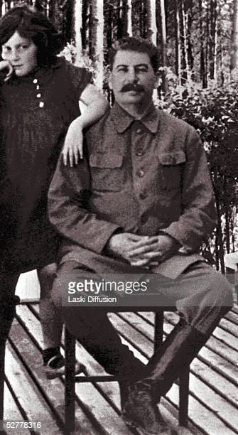 Russian Communist Party Leader Josef Stalin with his daughter Svetlana Alliluyeva Moscow 1936