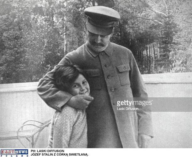 Russian Communist Party Leader Joseph Stalin with his daughter Svetlana Alliluyeva Moscow 1933