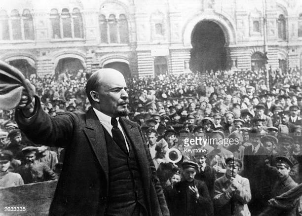 Vladimir Ilyich Lenin Russian revolutionary making a speech in Moscow Original Publication People Disc HG0194