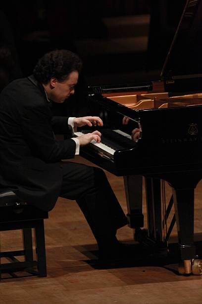 Pianist Evgeny Kissin Performs At The Barbican Centre In London