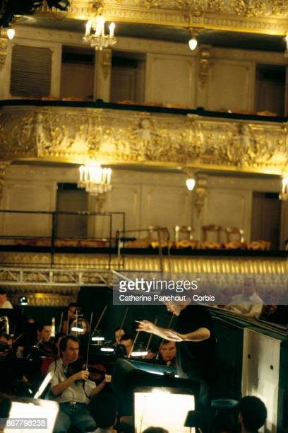 Russian conductor Valery Gergiev at the Mariinsky Theatre The theatre was badly damaged when a fire broke out in the workshop in September 2003 Plans...