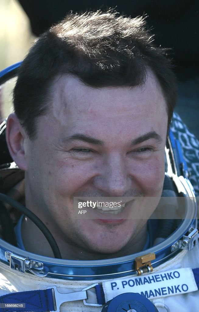 Russian cosmonaut Roman Romanenko smiles shortly after the landing aboard the Russian Soyuz space capsule some 150 km southeast of the town of...