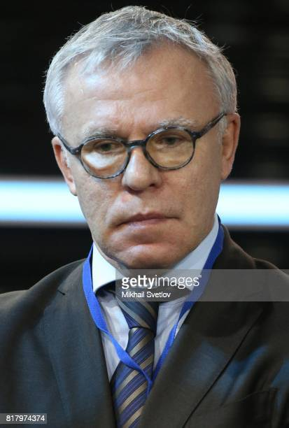 Russian Council of the Federation Member former NHL player Vyacheslav Fetisov attends the opening ceremony of the MAKS2017 International Aviation and...