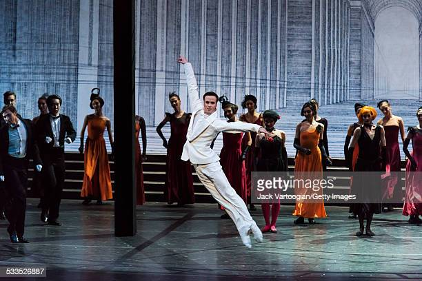 Russian dancer Konstantin Zverev performs as 'The Prince' in the Mariinsky Ballet production of Sergei Prokofiev's 'Cinderella' choreographed by...