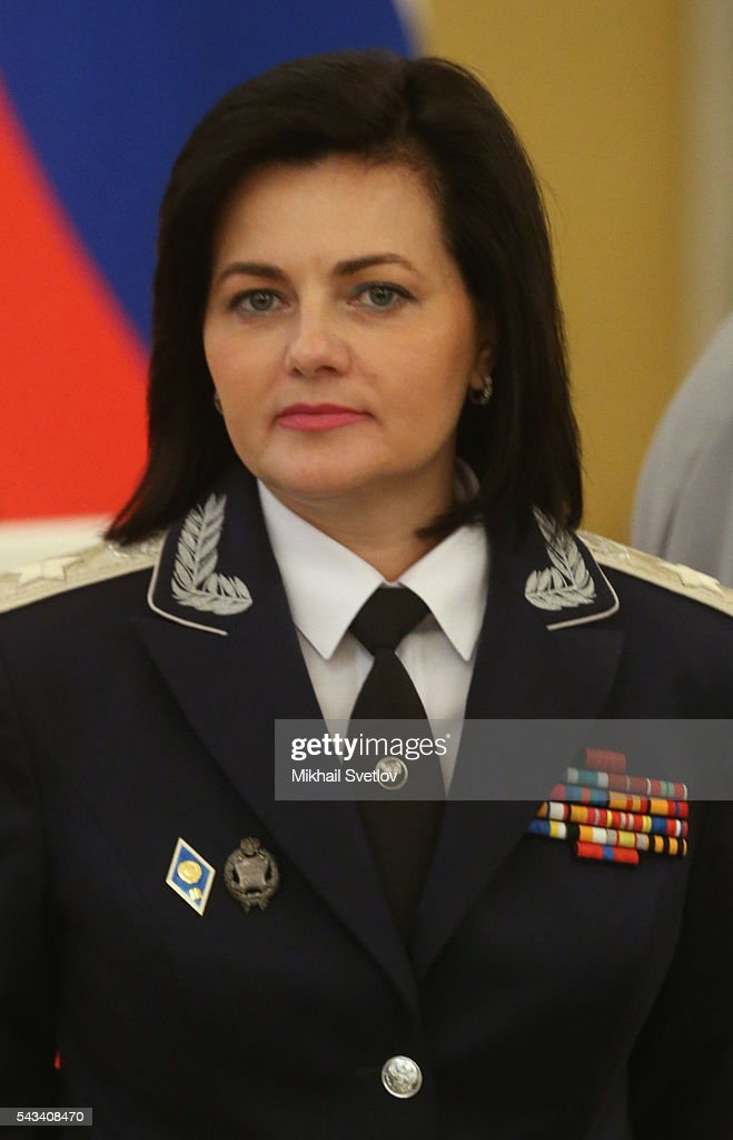 Russian Deputy Defence Minister Tatiana Shevtsova attends the reception for graduates of military academies and universtities at the Grand Kremlin Palace on June 28, 2016 in Moscow, Russia.