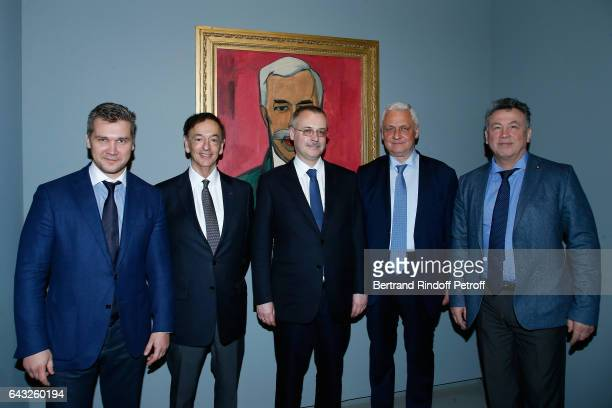 Russian Deputy Minister of Culture Sergey Obyvalin Director of sponsorship LVMH JeanPaul Claverie guest Russian Ambassador to Paris Alexandre Orlov...