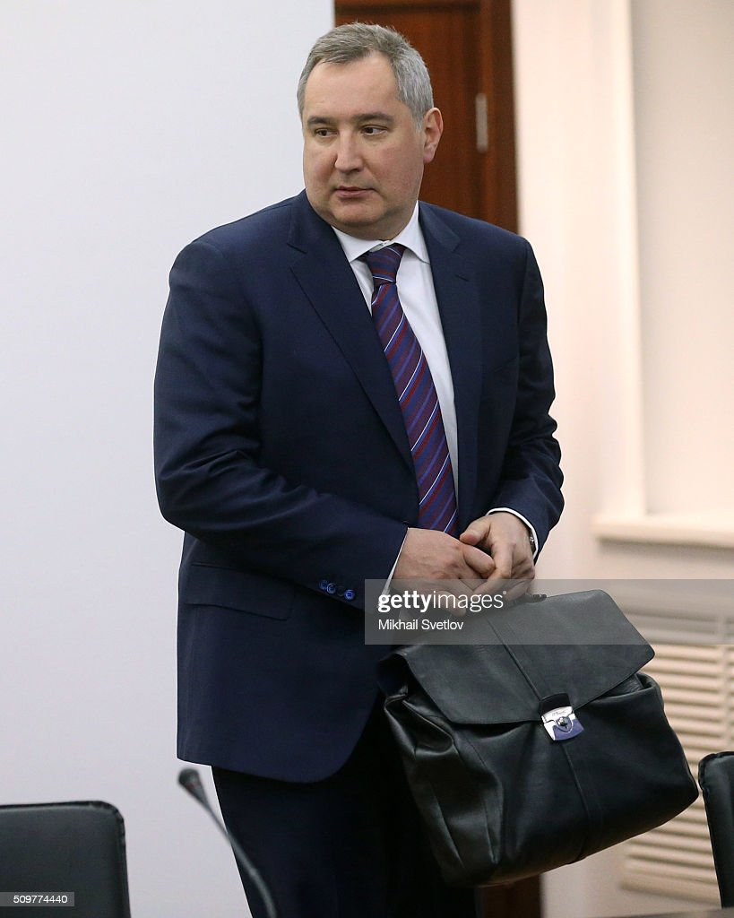 Russian Deputy Prime Minister <a gi-track='captionPersonalityLinkClicked' href=/galleries/search?phrase=Dmitry+Rogozin&family=editorial&specificpeople=2151537 ng-click='$event.stopPropagation()'>Dmitry Rogozin</a> attends a meeting the Military-Industrial Commission while visiting the Kamaz plant on February 12, 2016 in Naberezhnye Chelny, Russia. Russian President Vladimir Putin visited Kamaz, a Russian truck manufacturer, to mark 40 years since the start of production.