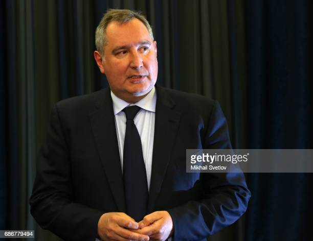 Russian Deputy Prime Minister Dmitry Rogozin attends the meeting with top managers of space industry sector on May 22 2017 in Sochi Russia The number...