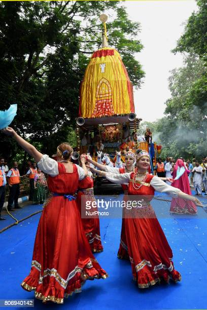 Russian devotees perform Russian flock dances during the ISKON organized 46 th Kolkata Rath Yatra festival Last day of the week long celebration of...