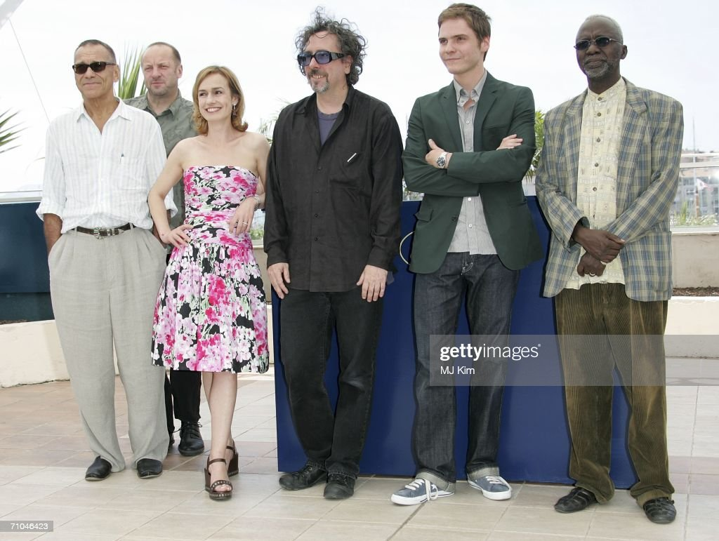 Russian director Andrei Konchalovsky, Polish composer Zbigniew Preisner, French actress Sandrine Bonnaire, British director Tim Burton, Spanish actor Daniel Bruhl and Malinese director Souleymane Cisse attend a 'Jury Cinefondation' photocall at the Palais des Festivals during the 59th International Cannes Film Festival on May 25, 2006 in Cannes, France.