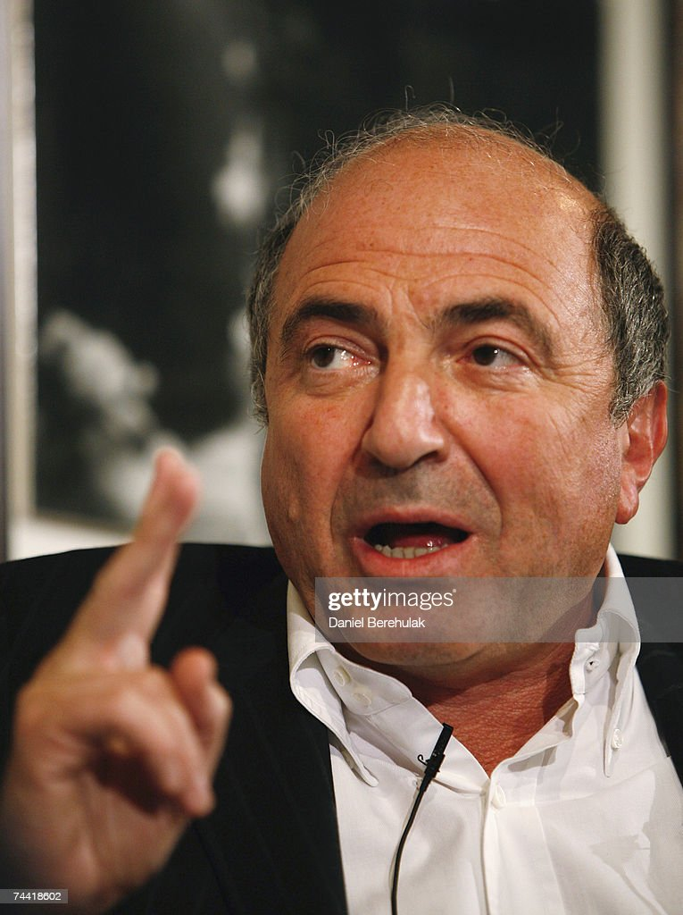 Russian dissident-businessman Boris Berezhovsky speaks during his talk, Insight with <a gi-track='captionPersonalityLinkClicked' href=/galleries/search?phrase=Boris+Berezovsky+-+Businessman&family=editorial&specificpeople=772839 ng-click='$event.stopPropagation()'>Boris Berezovsky</a>: Putting one over Putin, at the Frontline Club on June 6, 2007 in London, England. The controversial oligarch strained UK-Russian relations after recently claiming in an interview with The Guardian that he is scheming to topple Russian President Vladimir Putin. Berezovsky?s links to the poisoned Russian spy Alexander Litvinenko and his campaign against Putin, a man he once supported, have made him a wanted man in Russia. Berezhovsky was one of the Russian oligarchs who acquired massive wealth by taking control of state assets after the fall of communism. Russia has been demanding his extradition to face trial for several years. Britain so far has refused on the basis that he would not get a fair trial in his home country.