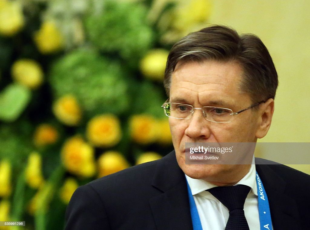 ASTANA, KAZAKHSTAN - MAY, 31 (RUSSIA OUT) Russian Economic Development Deputy Minister Alexey Likhachev attends the Eurasian Economic Union Summit at Akorda Palace on May 31, 2016 in Astana, Kazakhstan. Heads of the Eurasian Economic Union (EAEU) member states Russia, Belarus, Armenia, Kazakhstan and Kyrgyzstan have gathered in Astana for the summit. President Putin will also hold talks with Kazakh President Nursultan Nazarbayev.