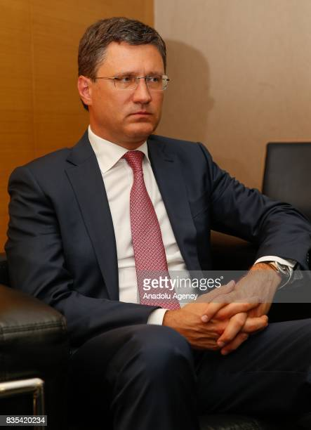 Russian Energy Minister Alexander Novak is seen during an exclusive interview in Izmir Turkey on August 18 2017