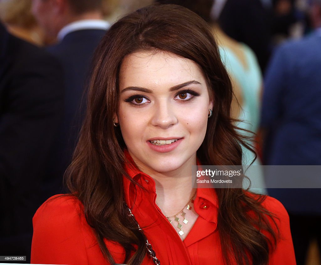 Russian figure scater and 2014 Olympic champion Adelina Sotnikova attends the Olympic ball in the State Kremlin Palace on May 30, 2014 in Moscow, Russia.