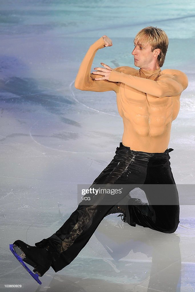 Russian figure skater Evgeni Plushenko performs during the 2010 Figure Skating World Champion Show at the Capital Indoor Stadium on September 4 2010...