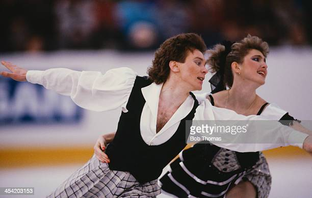 Russian figure skaters Marina Klimova and Sergei Ponomarenko during a performance at the European Figure Skating Championships Birmingham 17th 22nd...