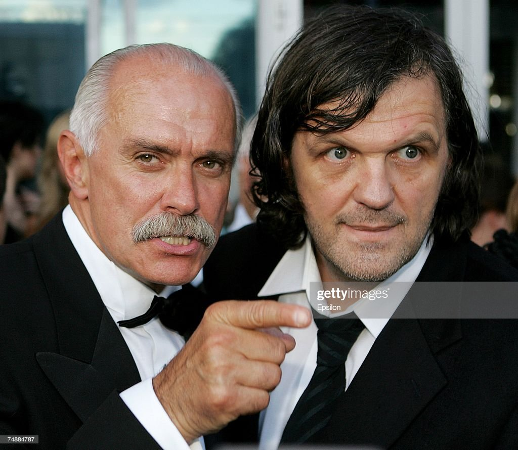 Russian film director actor and President of the Moscow International Film Festival Nikita Mikhalkov and Sarajevoborn film director Emir Kusturica...