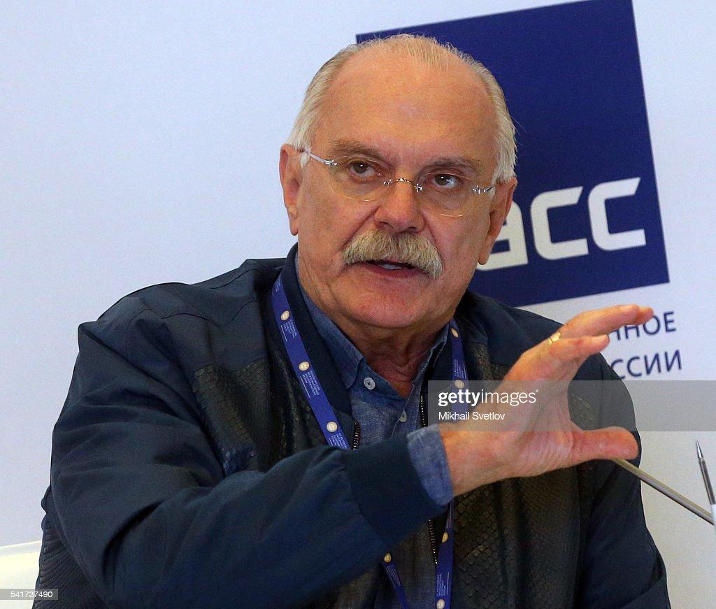 Russian Film Diretor Nikita Mikhalkov speaks at the Saint Petersburg International Economic Forum SPIEF2016 on June 17, 2016 in Saint Petersburg, Russia.