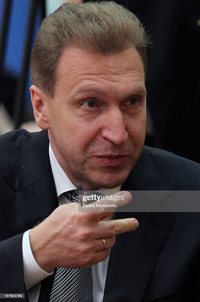 Russian First Deputy Prime Minister Igor Shuvalov attends a session of CIS Summit on December, 5, 2012 in Ashgabat, Turkmenistan. Leaders of former Soviet republics gathered for the Commonwealth of the Independent States Summit where President Putin stated he will defend the CIS at future G8 and G20 meetings.