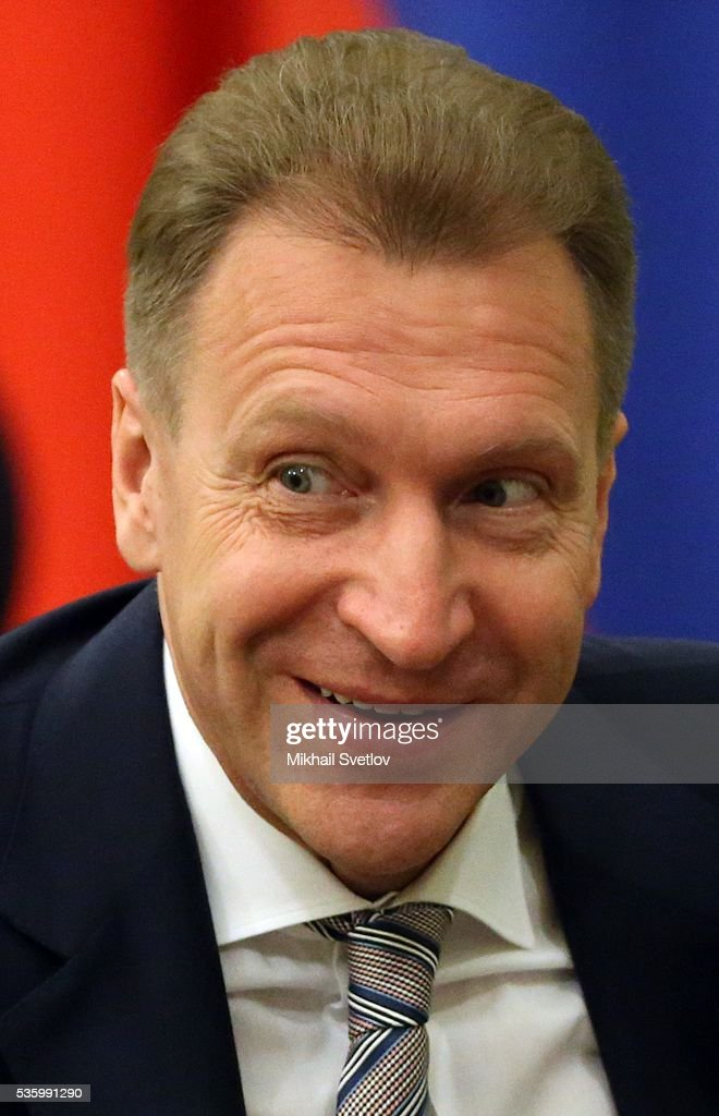 ASTANA, KAZAKHSTAN - MAY, 31 (RUSSIA OUT) Russian First Deputy Prime Minister Igor Shuvalov attends the Eurasian Economic Union Summit at Akorda Palace on May 31, 2016 in Astana, Kazakhstan. Heads of the Eurasian Economic Union (EAEU) member states Russia, Belarus, Armenia, Kazakhstan and Kyrgyzstan have gathered in Astana for the summit. President Putin will also hold talks with Kazakh President Nursultan Nazarbayev.