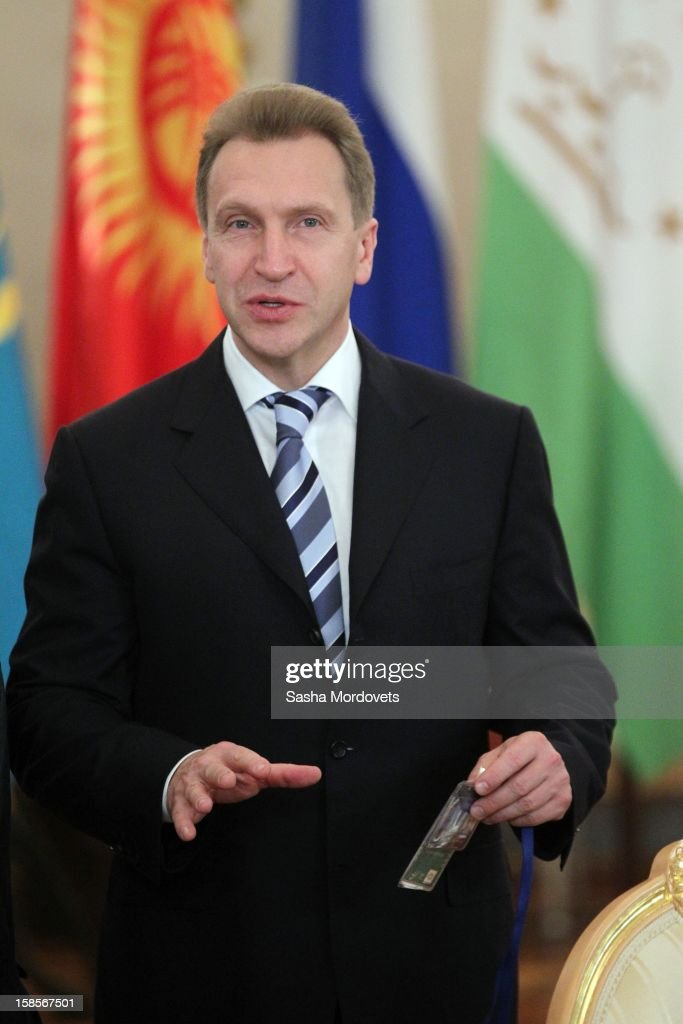 Russian First Deputy Prime Minister Igor Shuvalov speaks during the Summit of Collective Security Treaty Organisation (CSTO) on December 19, 2012 in Moscow, Russia. Leaders of Russia, Belarus, Kazakhstan, Kyrgyzstan and Armenia have gathered at the Kremlin in Moscow for the summit.