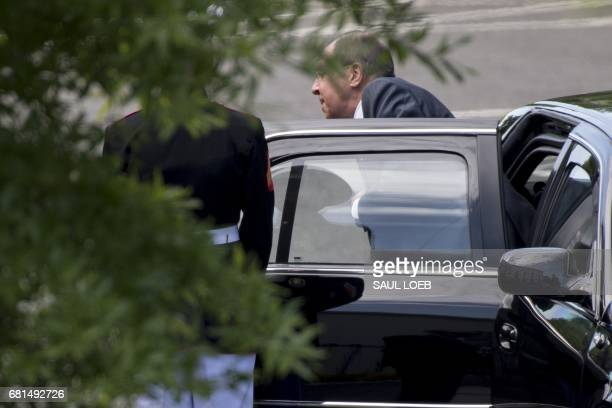 Russian Foreign Minister Sergei Lavrov arrives for a meeting with US President Donald Trump at the White House in Washington DC on May 10 2017 / AFP...