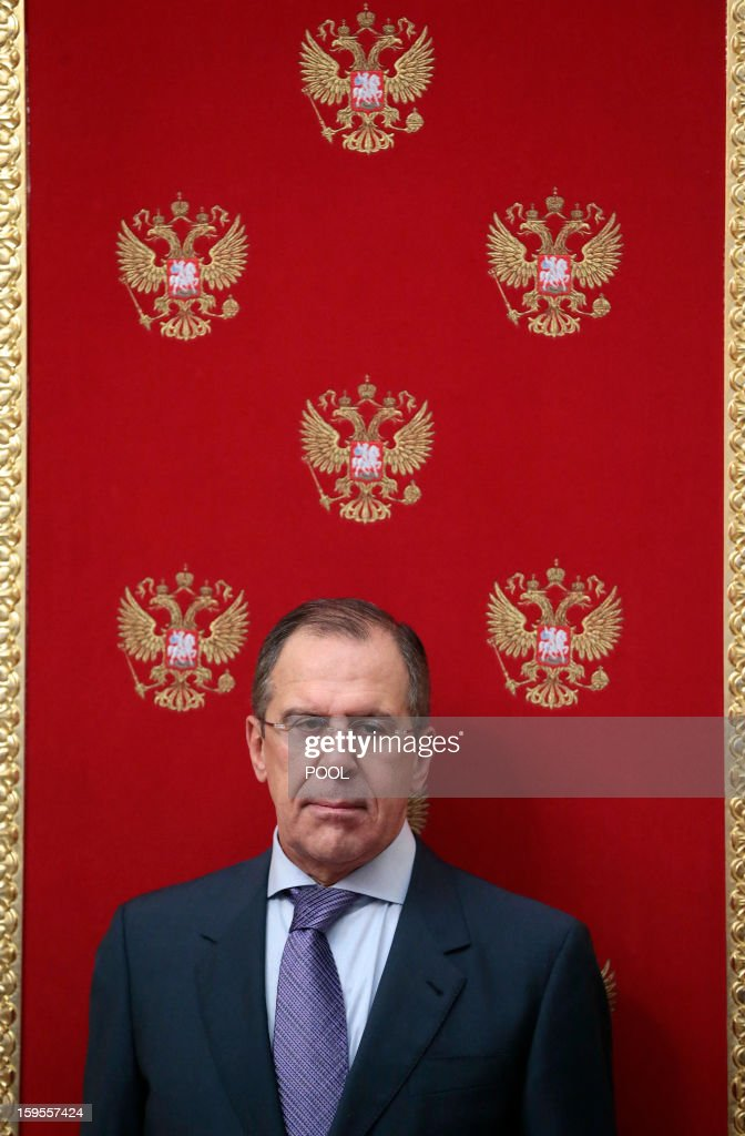 Russian Foreign Minister Sergei Lavrov attends a signing ceremony between Russia and Bangladesh in Moscow, on January 15, 2013. Russia's President Vladimir Putin met yesterday Bangladesh's Prime Minister Sheikh Hasina for talks and for the signature of the impoverished Asian nation's largest defence contract since its independence in 1971.