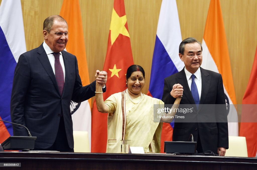Foreign Ministers Of India, Russia And China Meet In New Delhi