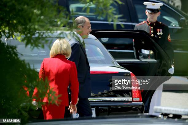 Russian Foreign Minister Sergey Lavrov leaves the White House May 10 2017 in Washington DC Lavrov met with US President Donald Trump to discuss...
