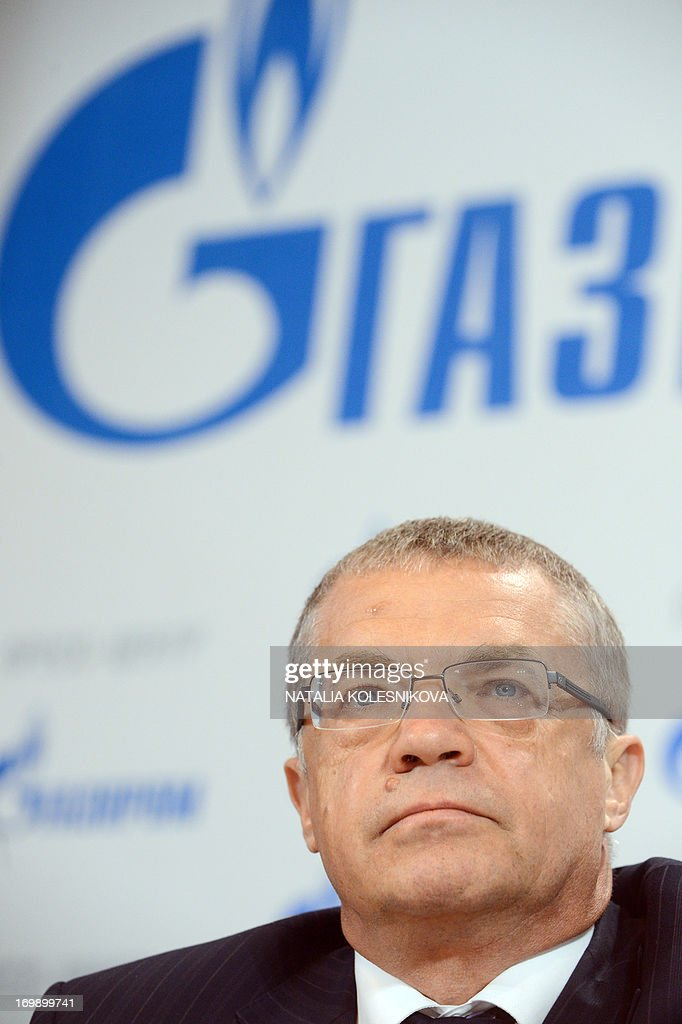 Russian gas giant Gazprom deputy CEO Alexander Medvedev attends his press conference in Moscow, on June 4, 2013.