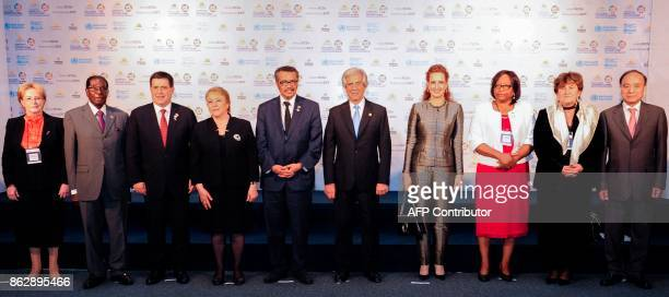 Russian Health Minister Veronika Skvortsova Zimbabwean President Robert Mugabe Paraguayan President Horacio Cartes Chilean President Michelle...