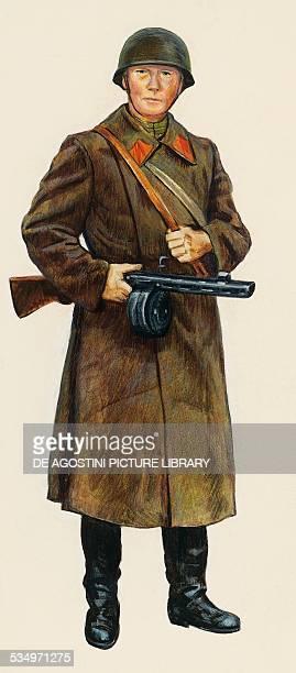 Russian infantryman illustration Second World War Russia 20th century