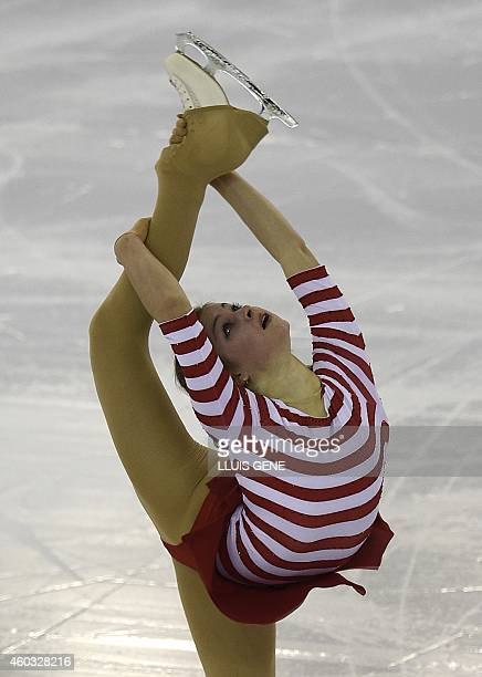 Russian Julia Lipnitskaia performs during the senior ladies short program at the ISU Grand Prix of figure skating Final 2014 in the Barcelona...
