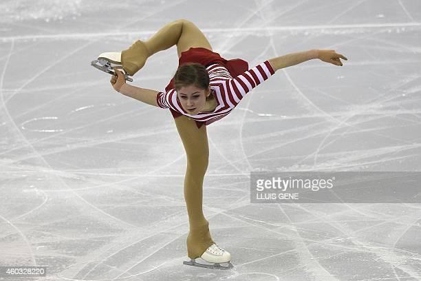 Russian Julia Lipnitskaia performs during the senior ladies short program at the ISU Grand Prix of figure skating Final 2014 in the Barcelona...