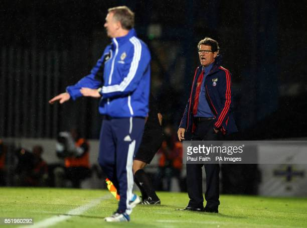 Russian Manager Fabio Capello during the 2014 FIFA World Cup Qualifier at Windsor Park Belfast