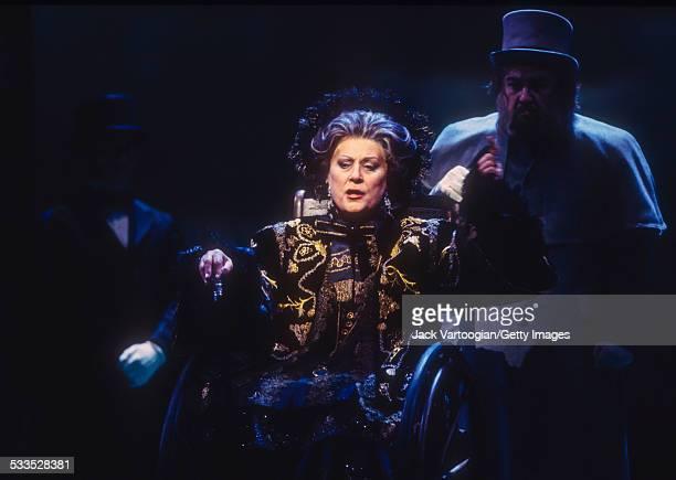 Russian mezzosoprano Elena Obraztsova performs at the final dress rehearsal prior to the Metropolitan Opera premiere of the Metropolitan Opera/Temur...